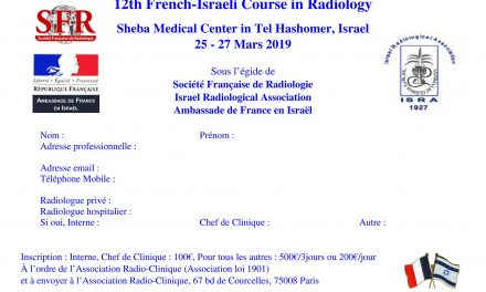 [Congrès] 12th French-Israeli Course in Radiology
