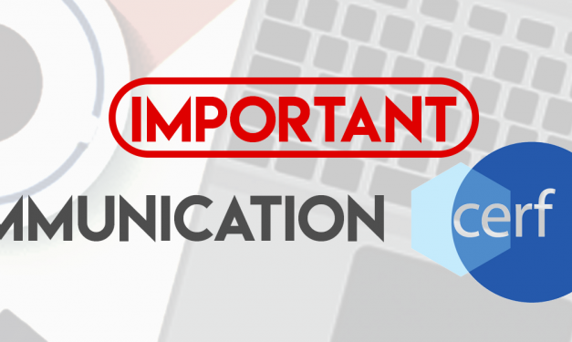 Communication CERF : mars 2019