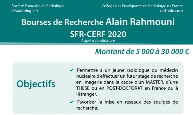 Bourses de Recherche Alain Rahmouni SFR-CERF 2020 – Appel à candidature