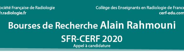 Bourses de Recherche Alain Rahmouni 2020
