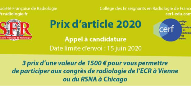 Prix d'article 2020 – SFR