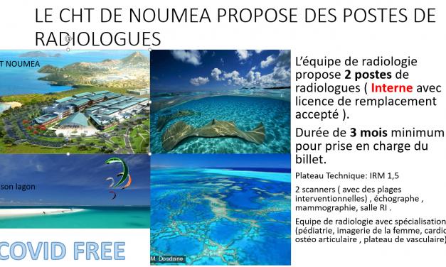 poste radiologue Nouméa