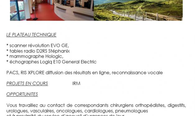 offre emploi Radiologue sur Montluçon (03)
